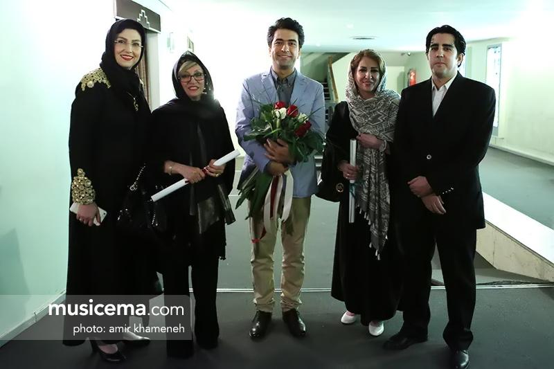 مرجانه گلچین و خواهر در کنسرت محمد معتمدی