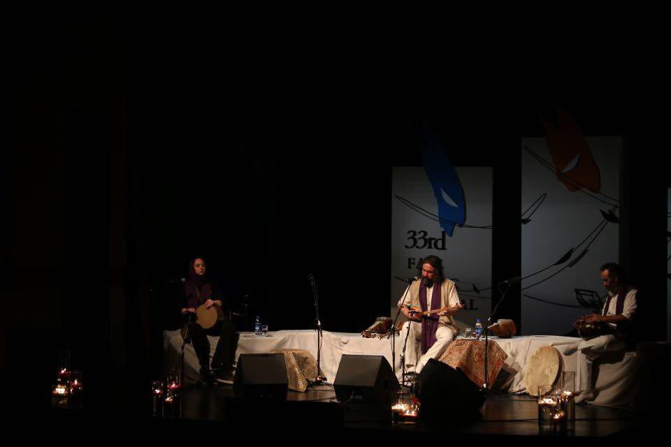 دو جوان برگزیده ی جشنواره، کنسرت آهنگساز پیشکسوت را یاری دادند