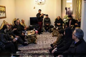 حبیب در منزل مرحوم پاشایی