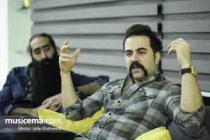گفت و گو با امید نعمتی و صادق تسبیحی در دفتر سایت موسیقی ما - بهمن 1396