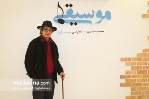 گفت و گو با «نادر مشایخی» در دفتر سایت «موسیقی ما» - 9 اسفند 1395