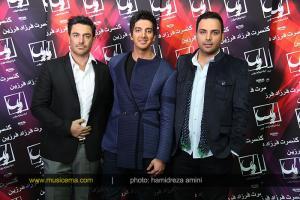 محمدرضا گلزار به همراه احسان علیخانی در کنسرت فرزاد فرزین عزیز
